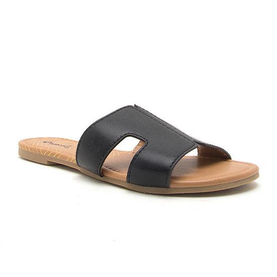 Qupid Womens Archer-569x Slide Sandals