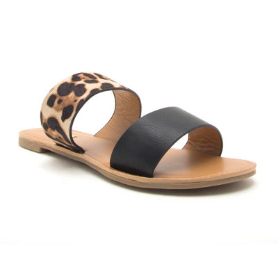 Qupid Womens Athena-1076axx Slide Sandals