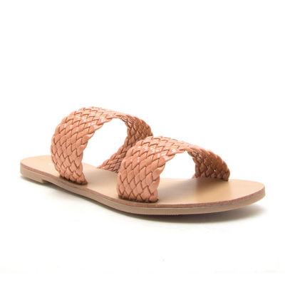 Qupid Womens Athena-1409 Slide Sandals