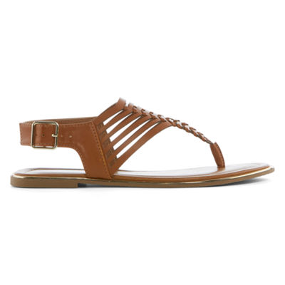 Arizona Womens Corsico T-Strap Flat Sandals