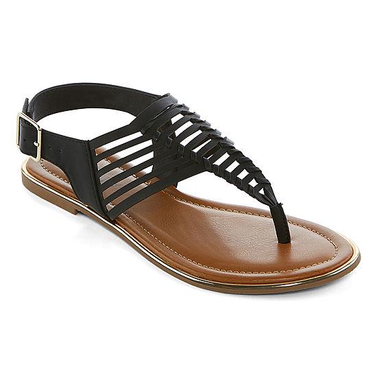 e516ce7c46dd Arizona Womens Corsico T-Strap Flat Sandals - JCPenney