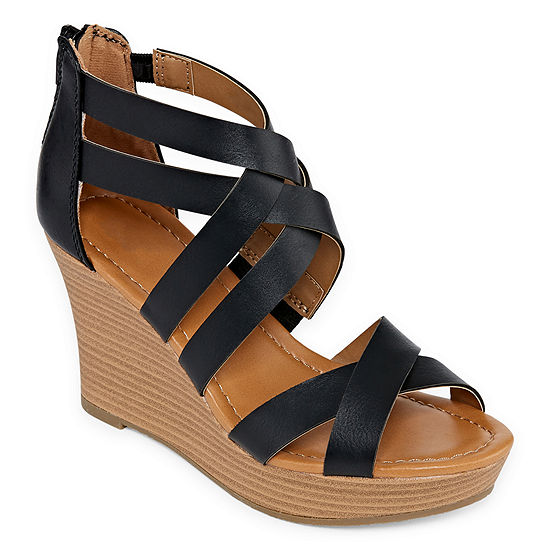 a25d3a08d61 a.n.a Womens Taci Wedge Sandals - JCPenney