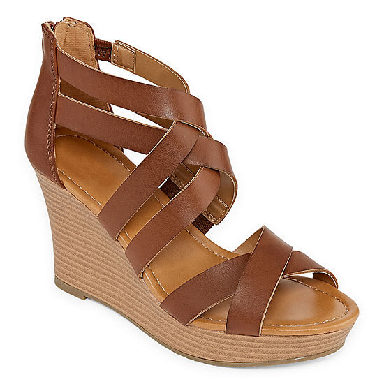 b7c0fdd493d4 a.n.a Womens Taci Wedge Sandals - JCPenney