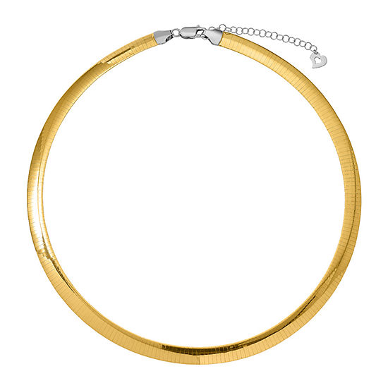 14K Two Tone Gold Semisolid Omega Chain Necklace