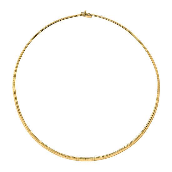 14k Gold 7 Inch Solid Omega Chain Bracelet