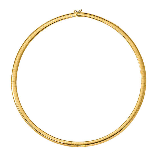 14K Gold 16 Inch Solid Omega Chain Necklace