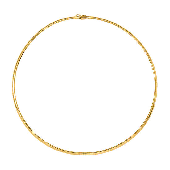 14K Gold 18 Inch Solid Omega Chain Necklace