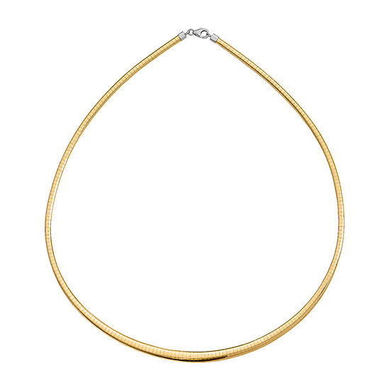 14k Gold 18 Inch Omega Chain Necklace