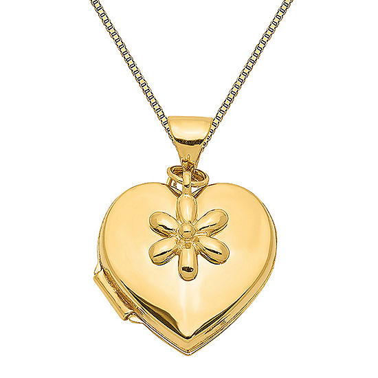 Womens 14K Gold Heart Locket Necklace