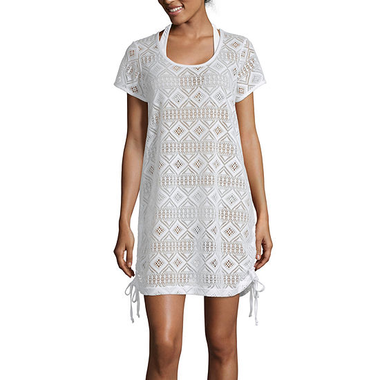 Wearabouts Adjustable Crochet Swimsuit Cover Up Dress