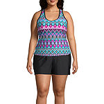 Zeroxposur Geometric Tankini Swimsuit Top Plus