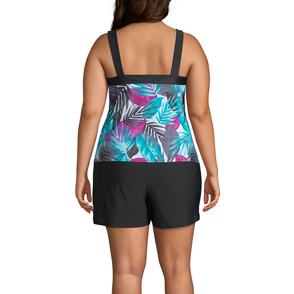 Zeroxposur Leaf Tankini Swimsuit Top-Plus