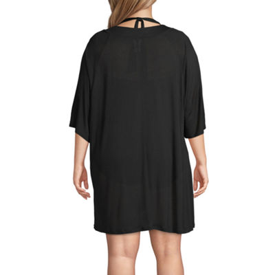 Wearabouts Knit Swimsuit Cover-Up Dress-Plus