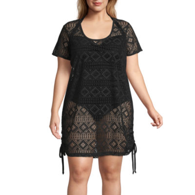 Wearabouts Crochet Swimsuit Cover-Up Dress-Plus
