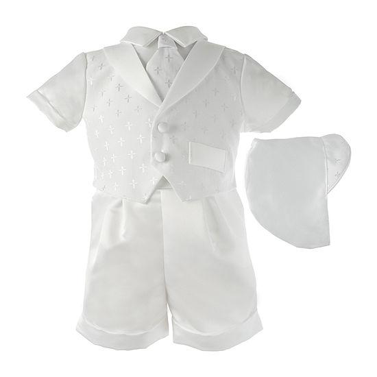 Keepsake Christening Short Set Baby Boys 2-pc. Suit Set