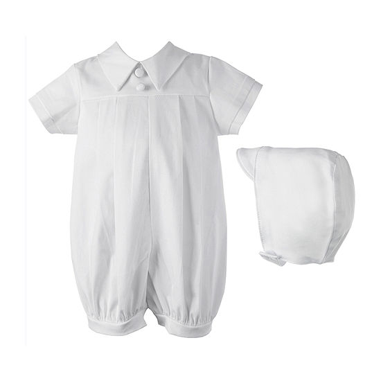 Keepsake Christening Romper Set Boys 2-pc. Short Set Baby