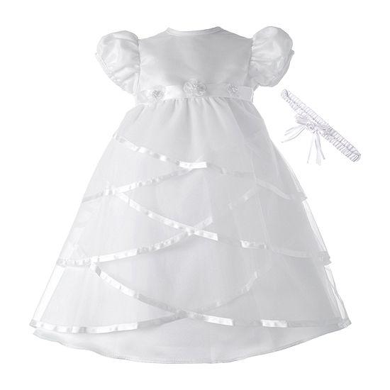 Keepsake 2-pc. Girls Embellished Short Sleeve Puffed Sleeve A-Line Dress - Baby