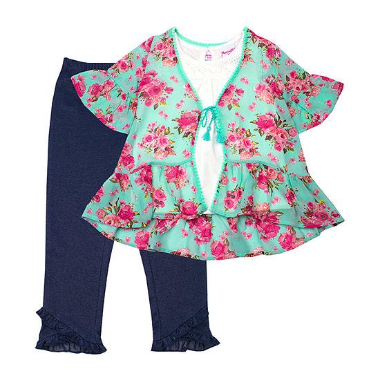 Nanette Baby 3 Pc Legging Set Toddler Girls