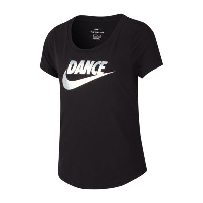 Nike Short Sleeve Scoop Neck Graphic T-Shirt Dance - Big Kid Girls 7-16