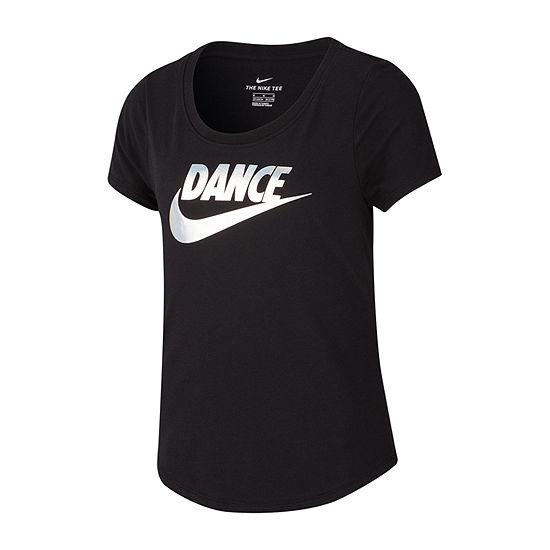 Nike Short Sleeve Scoop Neck Graphic T-Shirt Dance - Big Kid Girls 7-16