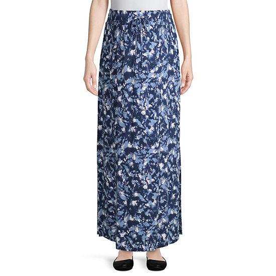 Artisan Drawstring Maxi Skirt with Pockets Maternity