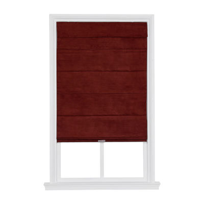 JCPenney Home Blackout Suede Custom Cordless Blackout Roman Shade