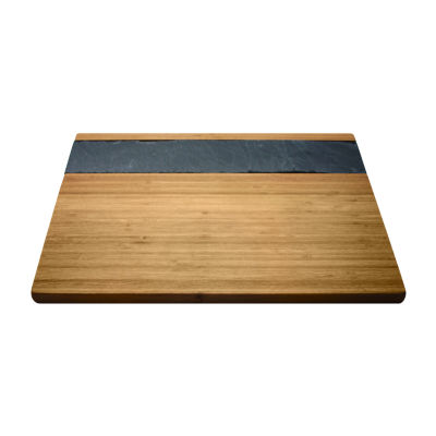 Vinotemp Bamboo & Slate Serving Tray Cheese Markers
