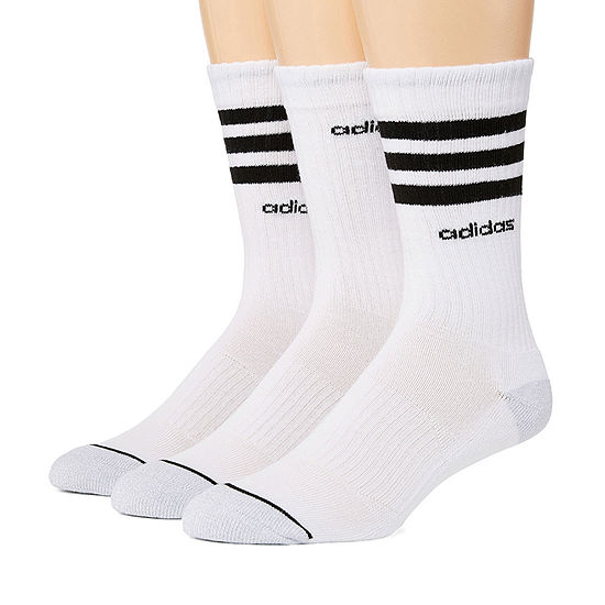 adidas Core Stripe 3 Pair Crew Socks-Mens