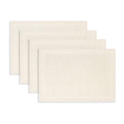 Fieldcrest Luxury Cotton-Linen Herringbone 4-pc. Placemat