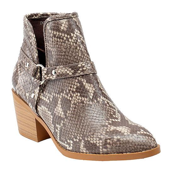 GC Shoes Womens Dover  Block Heel Booties
