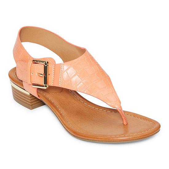 Liz Claiborne Womens Twiggy Ankle Strap Flat Sandals