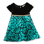 Youngland Baby Girls Short Sleeve 2-pc. Dress Set
