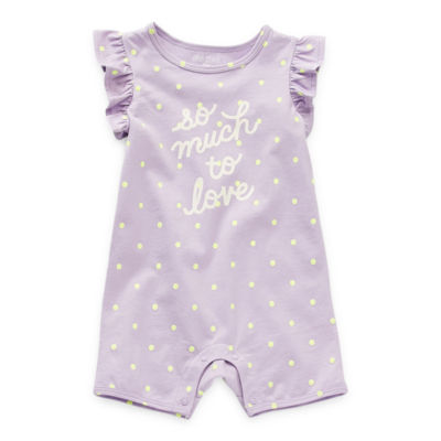 Okie Dokie Baby Girls Short Sleeve Romper