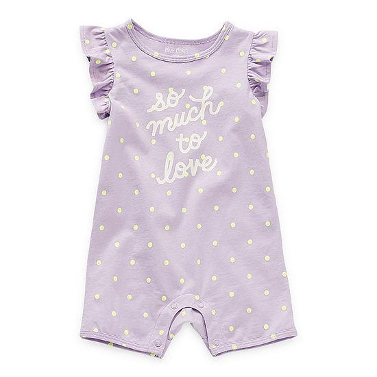 Okie Dokie Baby Girls Short Sleeve Romper