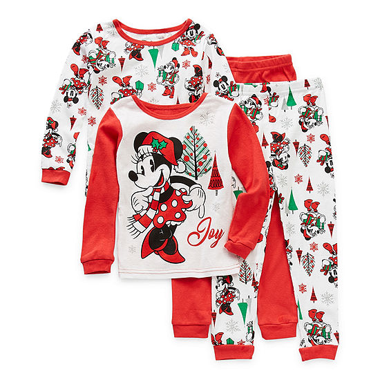 Disney Toddler Girls 4-pc. Minnie Mouse Pajama Set