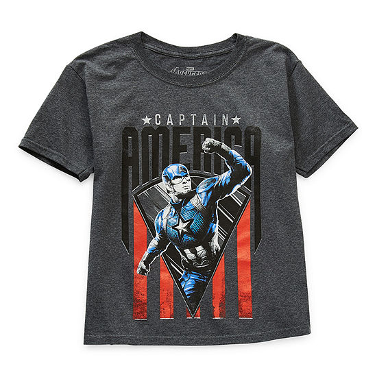 Disney Little & Big Boys Crew Neck Marvel Short Sleeve Graphic T-Shirt