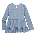 Knit Works Little & Big Girls Scoop Neck Long Sleeve Tunic Top