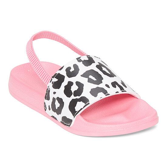 Okie Dokie Toddler Girls Slide Sandals
