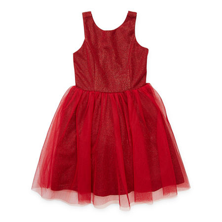 Lilt Little & Big Girls Sleeveless Party Dress, 20.5 Plus , Red