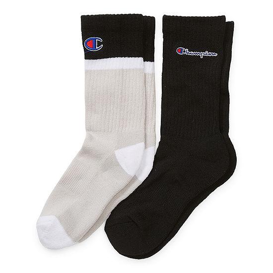 Champion Big Boys 2 Pair Crew Socks
