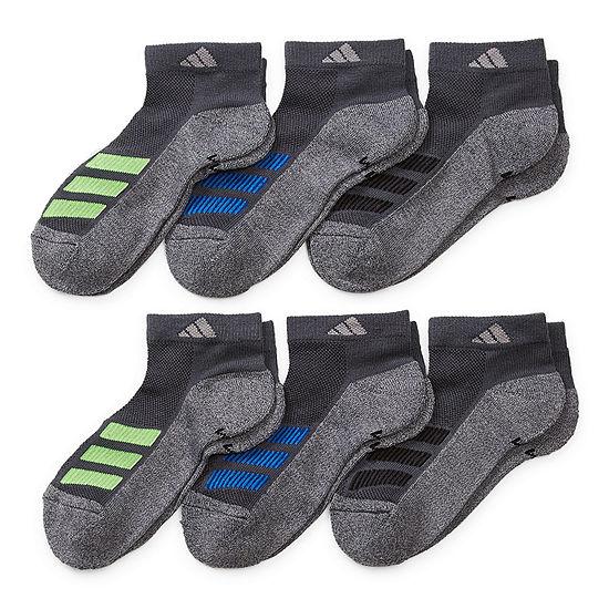 adidas Big Boys 6 Pair Low Cut Socks