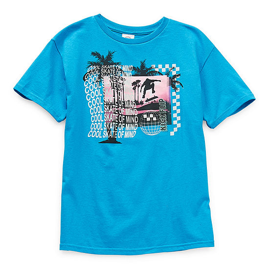 Big Boys Crew Neck Short Sleeve Graphic T-Shirt