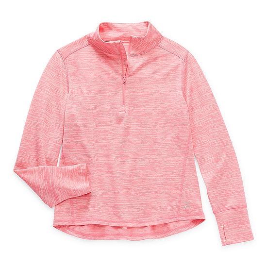 Xersion Everair Little & Big Girls Long Sleeve Quarter-Zip Pullover