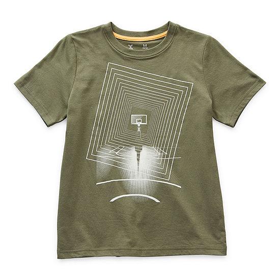 Xersion Little & Big Boys Crew Neck Short Sleeve Graphic T-Shirt