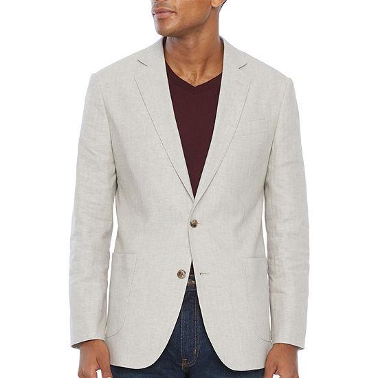 Stafford Linen Cotton Mens Classic Fit Sport Coat