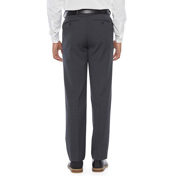 Stafford Super Mens Stretch Classic Fit Pleated Suit Pants