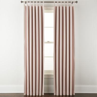 Linden Street Naturals 3-Ways To Hang 100% Blackout Rod Pocket Back Tab Single Curtain Panel