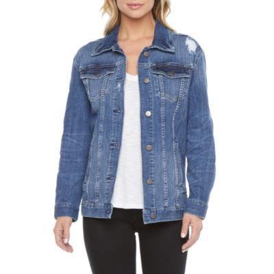 a.n.a. Womens Oversized Trucker Denim Jacket