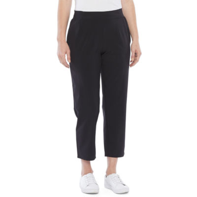 Stylus Womens Mid Rise Straight Pull-On Pants