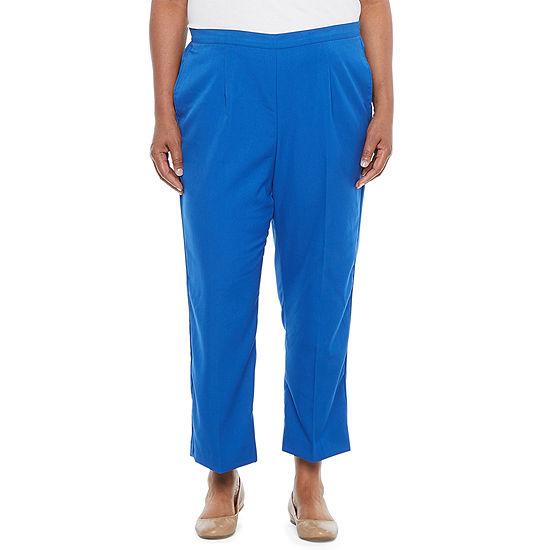Alfred Dunner-Plus Vacation Mode Womens Straight Pull-On Pants
